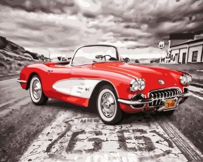 Картина по номерам GX 28109 Ретро-спорткар 40*50