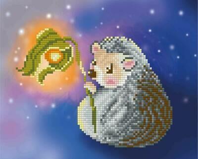 """Алмазная вышивка 22х18см""""ФРЕЯ"""" ALVR-088 """"Ежик с фонариком""""ALVR-088"""