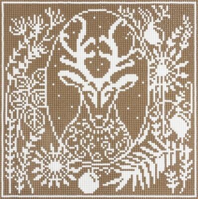 """Алмазная вышивка 24,5х24,5см""""ФРЕЯ"""" ALVR-09 079 """"Олень""""ALVR-09 079"""