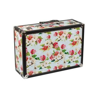 """DBQ-01 декор. шкатулка """"чемоданчик"""" 39 x 27 x 14 см, №007 """"Цветочки"""""""