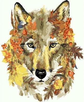 Картина по номерам PKC 76004 Осенний волк (Фаенкова Елена) 30х40см