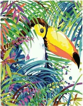 Картина по номерам PKC 76008 Попугай тукан (Фаенкова Елена) 30х40см