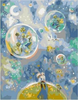 Картина по номерам PKC 76009 Двое/ Цветущие сады (Логинова Аннет) 30х40см