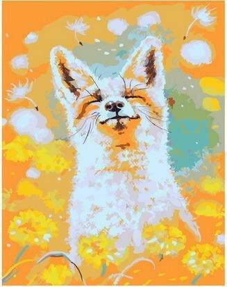 Картина по номерам PKC 76012 Рыжий и счастливый (Логинова Аннет) 30х40см