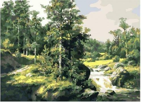 Картина по номерам PKC 76021 Сосны (Сатаров Михаил) 30х40см
