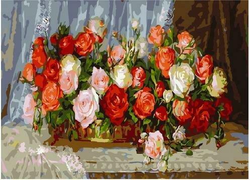 Картина по номерам PKC 76023 Розы (Дандорф Ольга) 30х40см