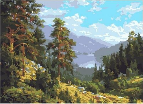 Картина по номерам PKC 76031 Воспоминание о Сибири (Басов Сергей) 30х40см