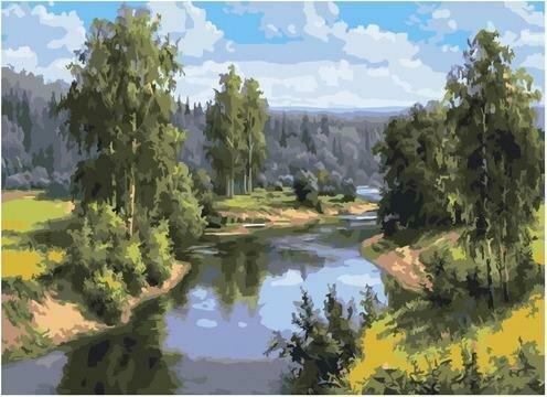Картина по номерам PKC 76037 Проточная река (Прищепа Игорь) 30х40см