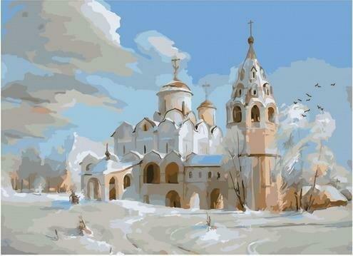 Картина по номерам PKC 76043 Суздаль. Покровский собор (Романов Роман) 30х40см