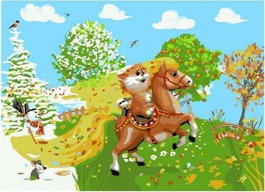 Картина по номерам PKC 76045 На коне (Долотов Алексей) 30х40см