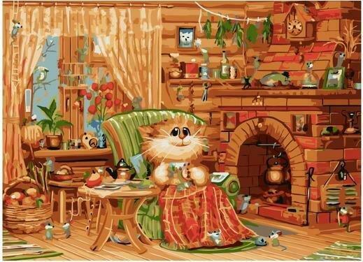 Картина по номерам PKC 76047 Домашняя идиллия (Долотов Алексей) 30х40см