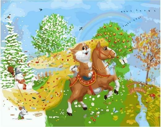 Картина по номерам PK 76001 На коне (Долотов Алексей) 40х50см
