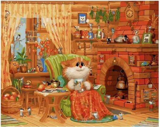 Картина по номерам PK 76003 Домашняя идиллия (Долотов Алексей) 40х50см