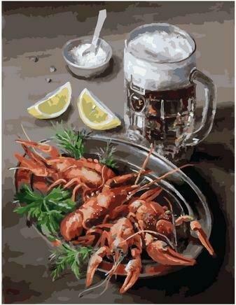 Картина по номерам PK 79036 Пиво и раки (Воробьёва Ольга) 40х50см