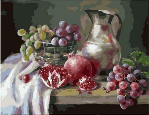 Картина по номерам PK 79047 С виноградом (Воробьёва Ольга) 40х50см