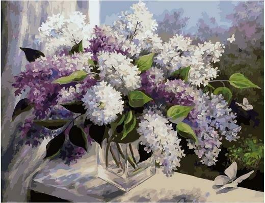 Картина по номерам Премиум PK 79005 Полет в сиреневую весну (Воробьёва Ольга) 40х50см