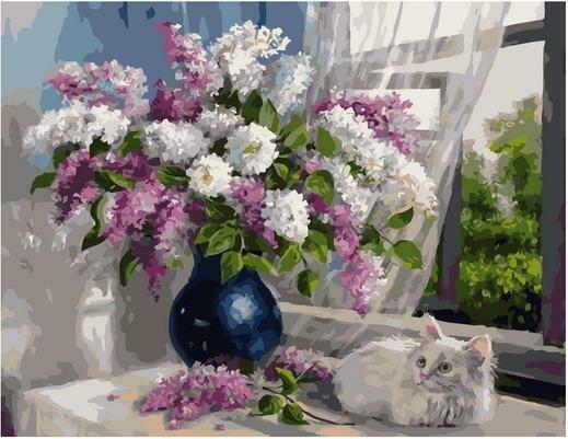 Картина по номерам PK 79007 Сиреневые мечты (Воробьёва Ольга) 40х50см