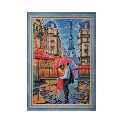 """Набор для вышивания """"Радуга бисера"""" №08 В-276 """"Двое. Париж"""" 26 х 38 см"""