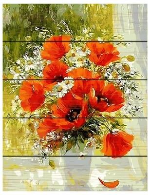 Картина по номерам GXT 9373 Букет на окне 40*50