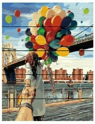 Картина по номерам Paintboy Original Следуй за мной. Бруклин 40х50