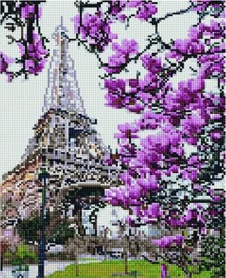 Алмазная мозаика EF 1004 Весна в Париже 30*40