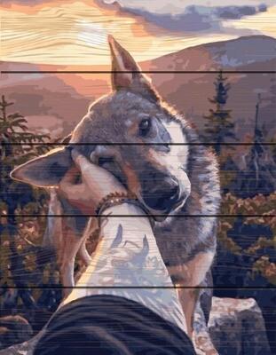 Картина по номерам по дереву GXT 28953 Ласковый зверь 40*50