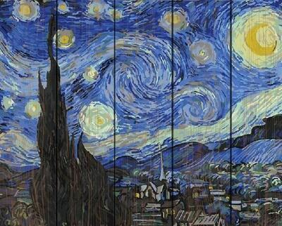 Картина по номерам по дереву GXT 4756 Звездная ночь (Ван Гог) 40*50