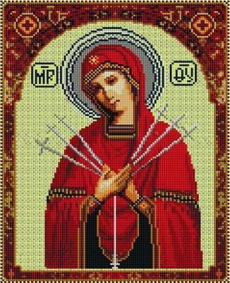 Алмазная мозаика EF 510 Богородица Семистрельная 30*40