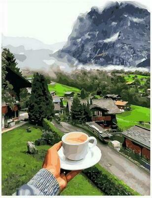 Картина по номерам PK68064 Согревающий утренний кофе 40х50см