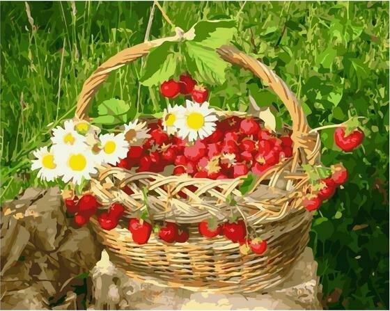 Картина по номерам Paintboy PK 85008 Вкусный урожай. Клубника 40х50 см