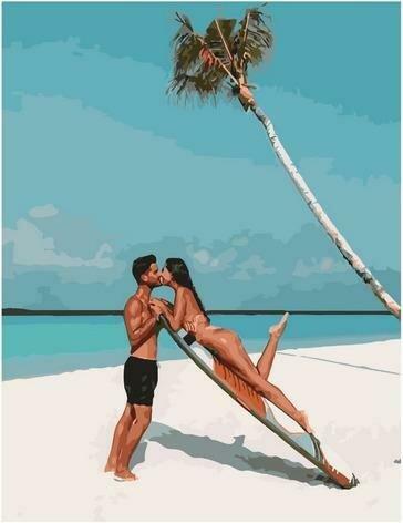 Картина по номерам Paintboy PK 85021 Поцелуй у моря 40х50 см