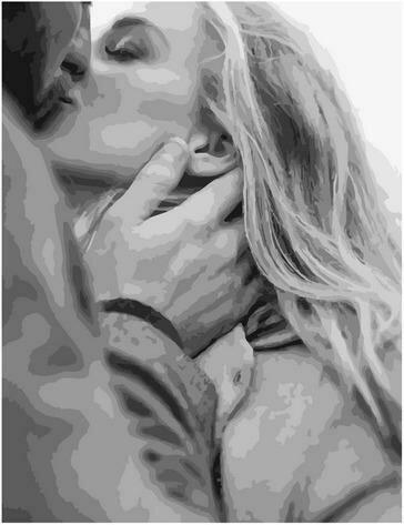 Картина по номерам Paintboy PK 85022 Поцелуй 40х50 см
