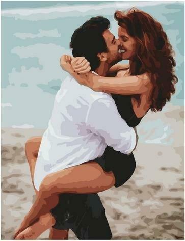 Картина по номерам Paintboy PK 85029 История любви. Пляж 40х50 см
