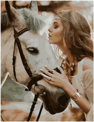 Картина по номерам Paintboy PK 85031 Лесная нимфа со своим конём 40х50 см