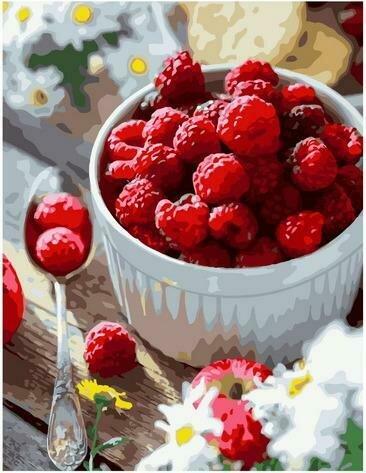Картина по номерам Paintboy PK 85032 Летний завтрак. Малина 40х50 см