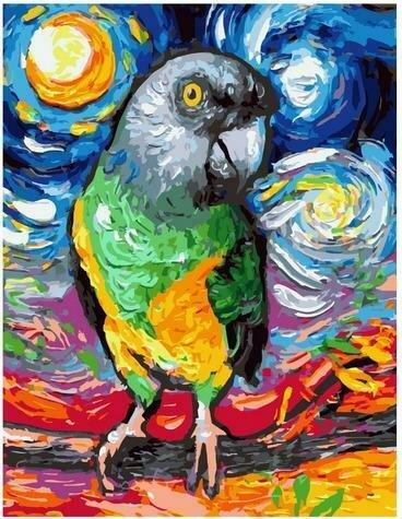 Картина по номерам Paintboy PK 85035 Попугай 40х50 см