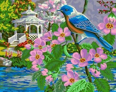 "Картина по номерам ""Райская птица"", 40х50см, ФРЕЯ, PNB/R1 №129"