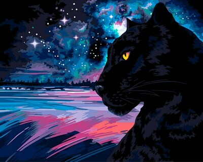 "Картина по номерам ""Черная пантера"", 40х50см, ФРЕЯ, PNB/R1 №108"