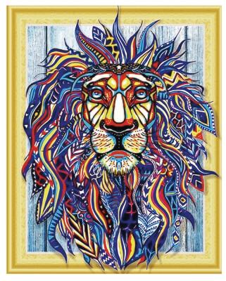 Алмазная мозаика 3D LP 023 Искрящийся лев 40*50, неполная выкладка