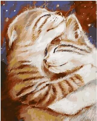 Картина по номерам Paintboy по дереву PKT 59010 Мурчу тобою/ Два кота 40х50 см