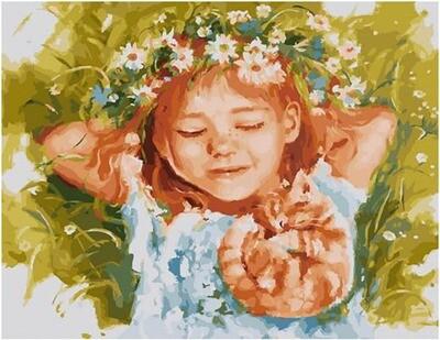 Картина по номерам Paintboy по дереву PKT 59009 Рыжая влюблённая 40х50 см