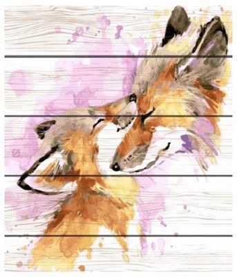 Картина по номерам Paintboy по дереву PKT 19059 Любовь мамы 40х50 см