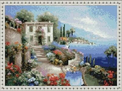 Алмазная мозаика ВанГогВоМне EQ 10314 Кафе у моря. Италия 30х40 см