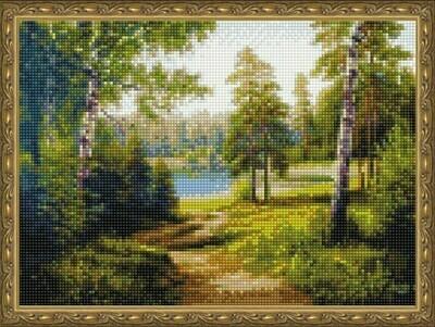 Алмазная мозаика ВанГогВоМне EQ 10294 Тропинка в лесу 30х40 см
