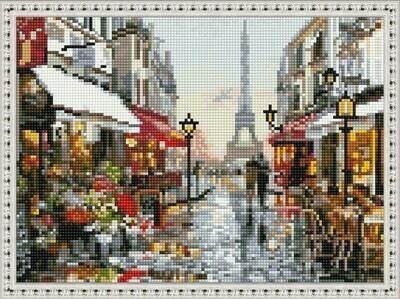 Алмазная мозаика ВанГогВоМне EQ 10322 Прекрасный Париж 30х40 см