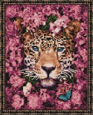 Алмазная мозаика ВанГогВоМне EQ 10364 Гепард в цветах 30х40 см