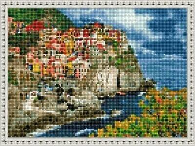 Алмазная мозаика ВанГогВоМне EQ 10289 Деревушка в горах 30х40 см