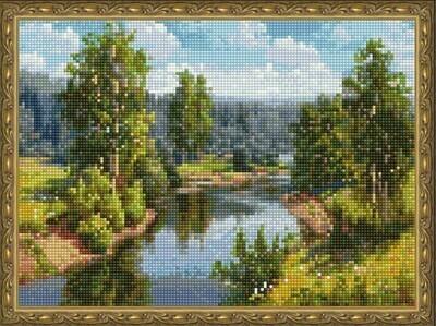 Алмазная мозаика ВанГогВоМне EQ 10317 Течение реки 30х40 см