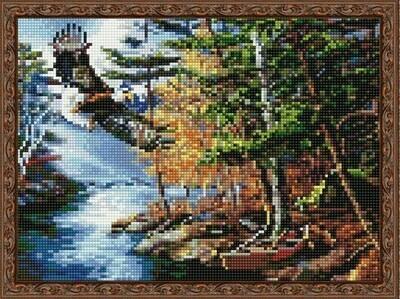 Алмазная мозаика ВанГогВоМне EQ 10315 Орел над ручьем 30х40 см