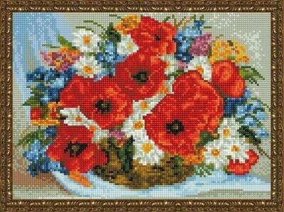 Алмазная мозаика ВанГогВоМне EQ 10342 Корзинка с полевыми цветами 30х40 см